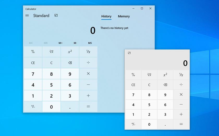 Windows 10 Hesap Makinesi