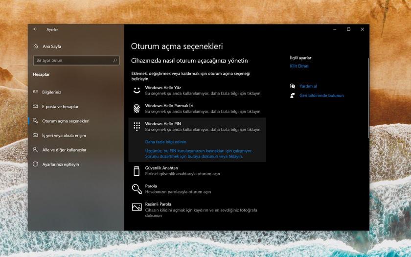 Windows Hello PIN Sorun Çözümleri