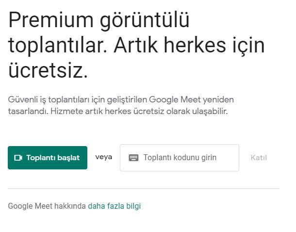Google Meet Toplantısı Oluşturmak