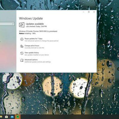 Windows 10 2004 Güncellemesi için 19619 Yayınlandı