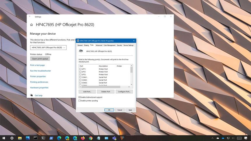 Windows 10 yazıcı görmüyor problemi