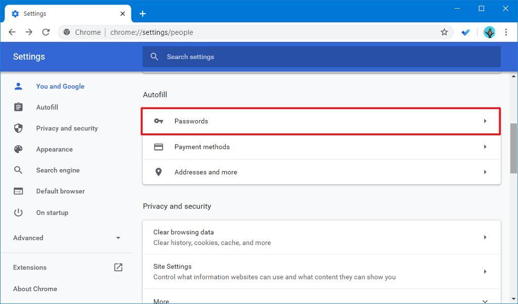 Chrome şifre seçeneği