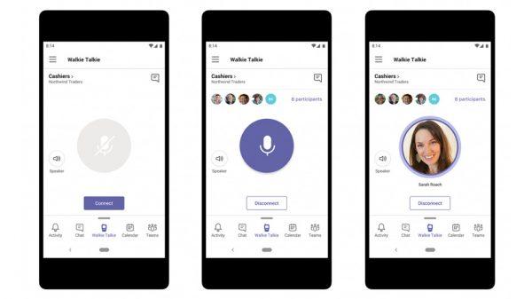Microsoft Teams Android için Bas-Konuş Özelliği