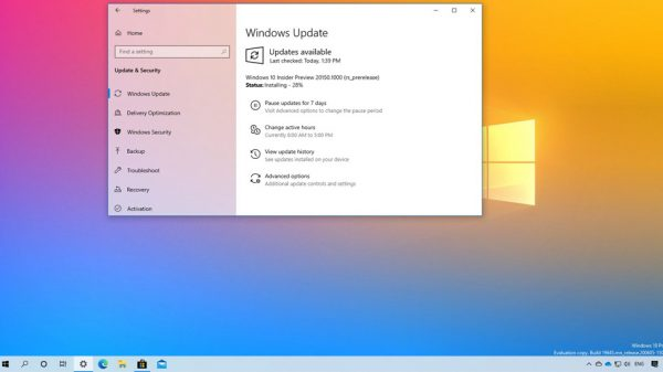 Windows 10 20150 derlemesi