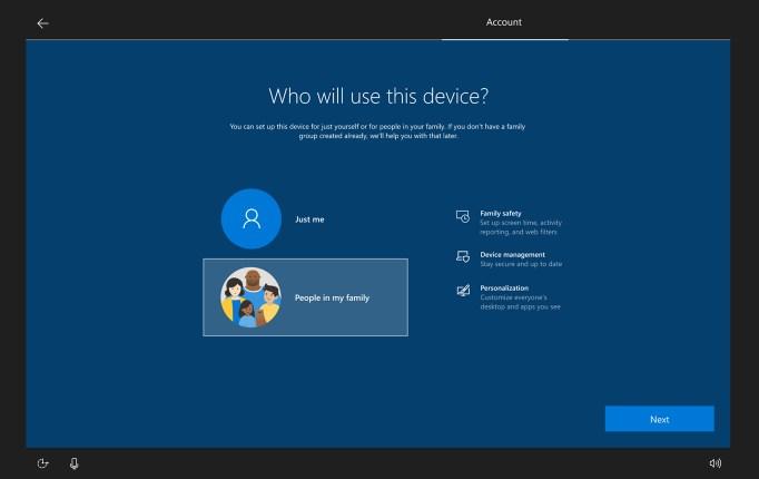 Windows 10 Aile Grubu Kurulumu