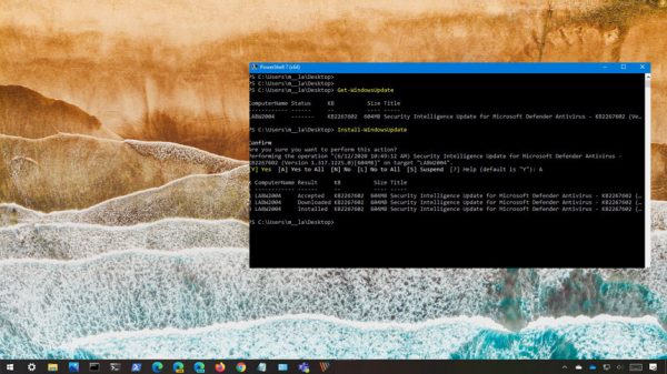 PowerShell ile Windows 10 güncelleme