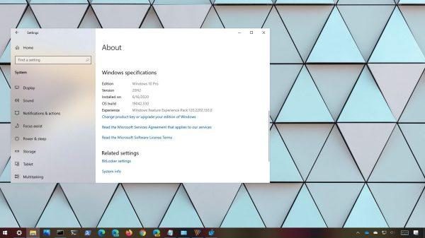 Windows 10 sürüm 20H2 nedir?