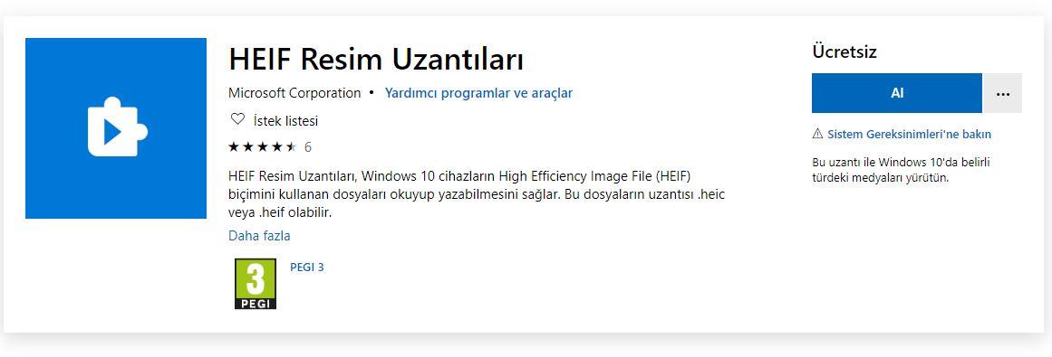 Windows 10 - HEIF