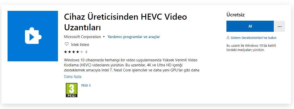 Windows 10 - HEVC