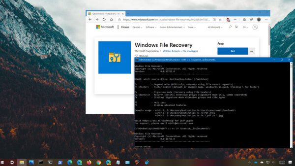 Windows 10'da silinen dosyaları geri getirme - Windows File Recovery
