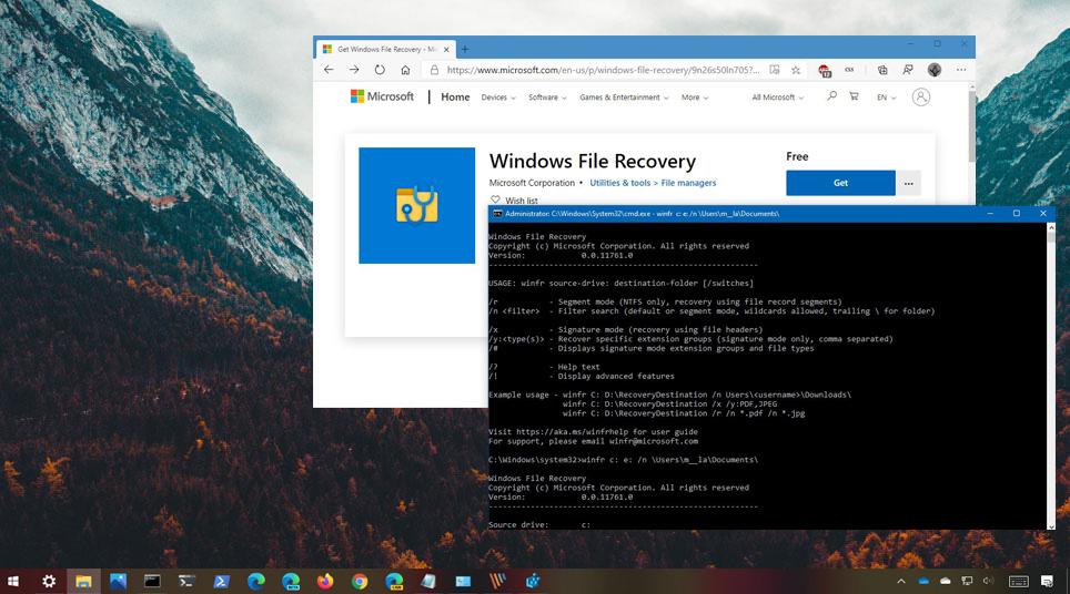 Windows 10'da silinen dosyaları geri getirme - Windows File Recovery