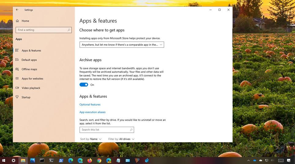 Windows 10 Arşiv Özelliği
