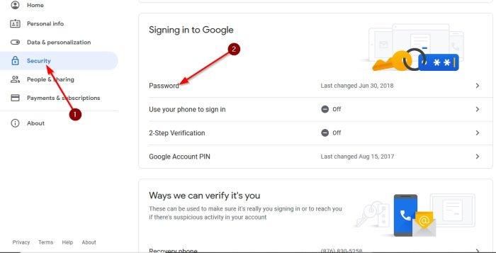 Google veya Gmail şifresi nasıl değiştirilir?