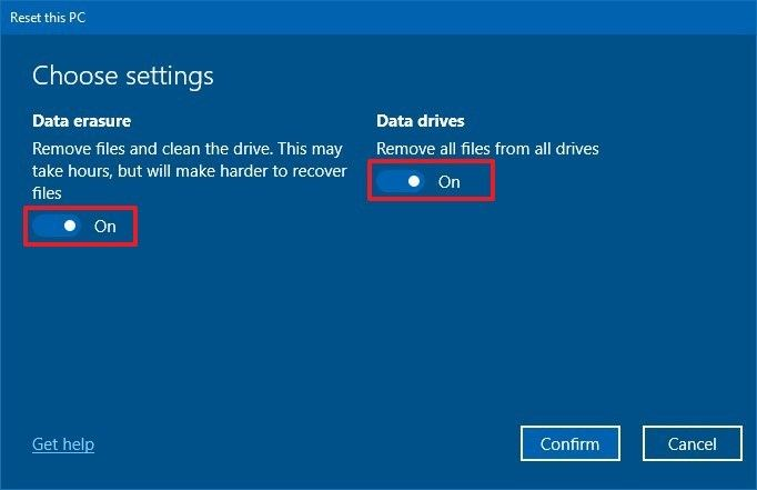 Windows sıfırlama